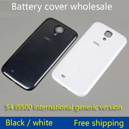Wholesale Plastic S4 - s4 battery cover For Samsung Galaxy S4 I9502 s4 9500 OEM Back Chassis Housing Bezel For GT-I9508 Battery Door Cover 50pcs
