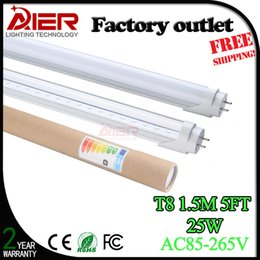 Wholesale Cheapest Price Led - Cheapest price 5ft led tube 25W with 130pcs SMD2835 high quality 1500mm LED Fluorescent Tube AC85-265V with CE ROHS