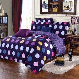 chinese quilt covers Promo Codes - Wholesale- New Colorful Bedding Set Single Double King Polyester Circle Comforter Bedclothes Soft Duvet Quilt Cover Pillow Case Sheet