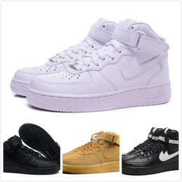 Wholesale Adult Skate Shoes - 2018 Off x Athletic Vlone 1 Ultra Classics Air 1 Low Skate Shoes Adult Brand Casual Sneakers White Runing shoes 36-45