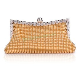 Wholesale Evening Clutch Crystals - 2015 new brand women party bags evening clutch,casual women's handbag lady party crystal evening bags vintage tote 3 colors 51