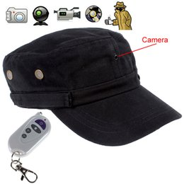 Wholesale hd hat camera - Black Color Quality Body Worn 720P HD Hat Cap Camera DVR Video Recorder With Remote Control, Support Max 32GB