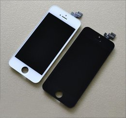 Wholesale Iphone Full Set - AAAAA quality for iPhone 5 5C 5S LCD touch screen digitizer Full set Assembly White and black color