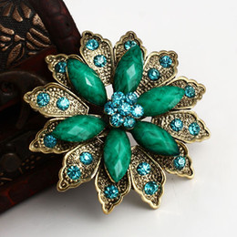 Wholesale Resin Hat - 2016 Fashion Accessories Corsage Crystal Brooch Pin Women Brooch For Wedding,Fashion Female Rhinestone Hat Pins Vintage Brooch