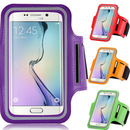 Wholesale Phone Covers Accessories - Mobile Phone Accessories Waterproof brush surface Luxury Workout Running Sport Arm Band Case For Samsung Galaxy S6 Edge Waterproof Cover