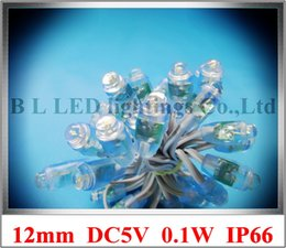 Wholesale Pvc Channels - PVC LED exposed light string pixel LED pixel module light for sign and channel letter 12mm IP66 0.1W DC5V CE ROHS waterproof