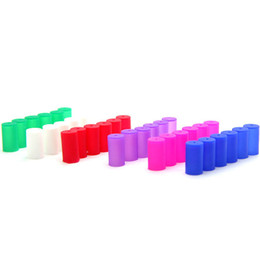 Wholesale Clearomizer Caps - Disposable Testing Drip Tips Cover Cap Colorful Mouthpieces Round Long Test Caps for eGo CE4 CE5 Clearomizer DHL Free