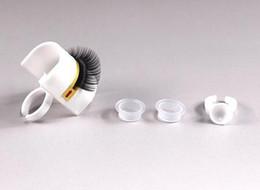 Suporte de extensão de cílios on-line-Extensão da pestana Glue Ring Adhesive Pallet Holder Ferramenta de maquiagem