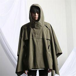 Wholesale Stylish Korean Fashion Mens - Fall-2015 Korean Fashion Harajuku Vintage Those Days Hooded Winter Cloak Stylish Mens Trench Coat Gothic Jacket Men Windbreaker Black