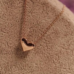 Wholesale Tiny Charm Wholesale - Trendy Tiny Heart Short Pendant Necklace Women Gold Plated Chain Lover Lady Girl Gifts Bijoux Fashion Jewelry