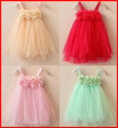 Wholesale Cute Lace Skirts - New Girls Dresses Cute Baby Girls Lace dress Clothes Wedding Dresses Design Kids Dress Children Clothing baby Girls Party Dresses Tutu Skirt