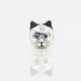 Wholesale Cat Stores - Free Shipping 100% 925 Sterling Silver Rhodium Plating Lovely Animal Jewelry Silver Cat Chram for Pandora Bracelet Lucky Sonny Store LB-18