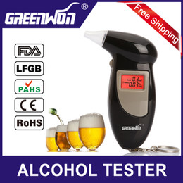 Wholesale Digital Breath Alcohol Tester Mouthpieces - Factory Outlets +10 mouthpiece Digital LCD Backlit Display Key Chain Alcohol Tester Alcohol Breath Analyzer Digital Breathalyzer TY1083