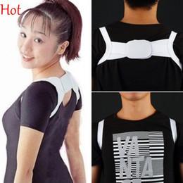 Wholesale Corrector Support Brace Belt - 2016 Fashion White Posture Brace Corrector Shoulder Support Band Belt Health Care Belts Hot Sell Body Support Corrector Wholesale SV018729