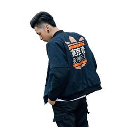 Wholesale Spring Military Jacket Men - Wholesale-2017 Spring MA1 Men Bomber jacket Tokyo Bay printing Outwear Japan Military Flight Pilot jackets male Coat College Outerwear
