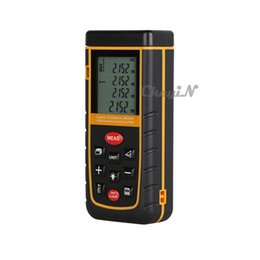 Wholesale Ft Range - LCD Display 60M Digital Laser Rangefinder Area Volume Measure Meter Tape Range Finder With Bubble Level Tool M in Ft 0.25-CJY08 order<$15 no