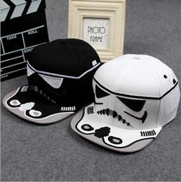 Wholesale Cool Caps For Women - Brand Star Wars Snapback Caps Cool Strapback Letter Baseball Cap Hip-hop Hats For Men Women Black   White A1DA4E