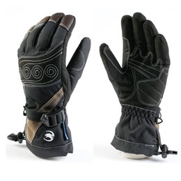 Wholesale Goatskin Gloves - Winter Off-road Motorcycle Sports Glove Outdoor Winter Warm Ski Snowboard Racing Waterproof Breathable Goatskin Embroidery Pre-curve Glove
