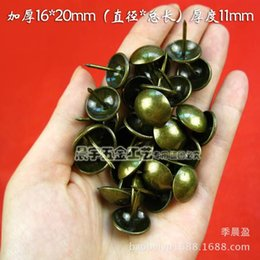 Wholesale Thumbtack Wholesalers - 16mm thick wooden light bulbs light wholesale packaging nail decorative nail hardware accessories wine bronze thumbtack