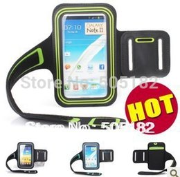 Wholesale Armband Galaxy Note Ii - Wholesale-Free Shipping Sport Armband Case Cover For Samsung Galaxy Note 2 II N7100 Solf Belt arm band case running case for Samsung N7100