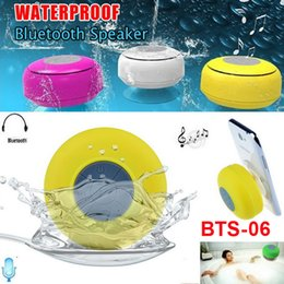 Wholesale Reader Cards - Portable Waterproof Wireless Bluetooth Speaker Shower Car Handsfree Receive Call Mini Subwoofer Suction Phone IPX4 Speakers 6 Color BTS-06