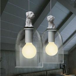 Wholesale Retro Restaurants - G80 Bulb Freely American Retro European Bedroom Restaurant Stairs White Dog Pendant light