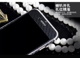 Wholesale Carbon Sticker For Mobile Phones - Wholesale-Simple style High Quality Carbon fiber deco mobile phone sticker For Apple iPhone 6 Plus 5.5 inch sticker Free Shipping