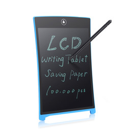 "Wholesale Mini Lcd Boards - Wholesale-Parblo 8.5"" LCD Mini Writing Tablet Writing Board Can Be Used as Whiteboard Bulletin Board Memo Board P0025571 Free Shipping"