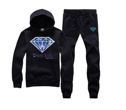 Wholesale Hoodies Sweat Pants - Diamond Supply Co hoodie clothing men diamonds sweats hip hop hoody brand new sweatshirt men's clothes hoodie + pants