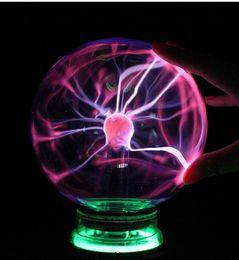 Wholesale Led Sphere Lights - Novelty Lights Touch Sensor Sphere Magic Night Light 3 4 5 6 Inch Glass Christmas Balls Decorative Lava Lamp For Kid Plasma Ball