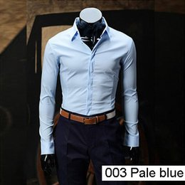 Wholesale Dress Shirt For Men Oxford - Wholesale-2016 New Arrival Fashion Oxford Men's Brand Casual Shirts Mens Long Sleeve Dress Shirt Solid Color Formal Shirts For Men