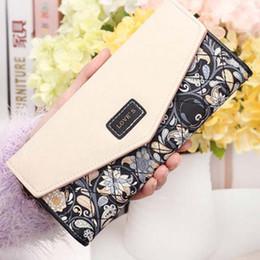 Wholesale Change Purse Wallets - Fashion Flower Women Wallet Floral Long Wallets New Popular Portable Change Purse Wallet Delicate Casual Lady Cash Purse 5Colors