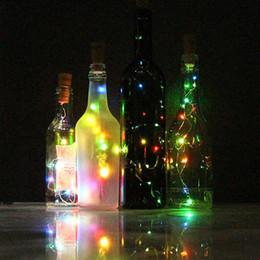Wholesale String Bulbs Lighting - 1Set=6PCS Xmas Wine Bottle Corks LED String Lights 6.56Ft Flashing Copper Wire Bulb Christmas Decoration Party Wedding