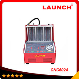 Wholesale Injector Cleaning Tester - 100% Origninal Launch CNC-602A CNC602A injector cleaner and tester With English Panel best price free shipping DHL