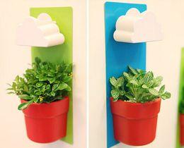 Muro di bonsai online-vasi di plastica per piante vaso di fiori bonsai giardino verticale vaso piovoso vasos decorativos de flores vasi da giardino vasi da parete decorazioni per la casa