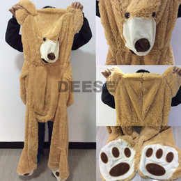 Wholesale Large Plush Teddy - Wholesale-Factory price 340cm USA Teddy bear skin Giant Luxury Plush Extra Large Teddy Bear cost - Dark Brown - Light Brown
