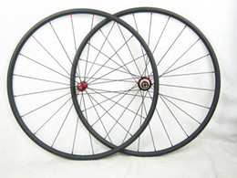 Wholesale 24mm carbon tubular - 700C Carbon Road Bicycles 24mm Bike Wheel Set 20.5mm Width Free Gifts Straight Pull R36 hub