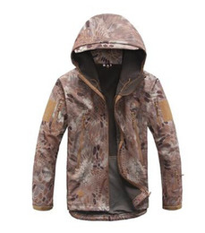 Wholesale Python Jacket - Python mud color Tactical Gear Multicam TAD Shark Skin Military Tactical Jacket Coat Softshell Jacket