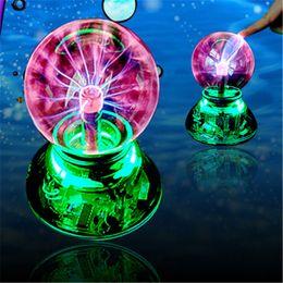 Wholesale Ball Audio - Novelty Lighting USB Magic Ball Glass Static Plasma Ball Sphere Electronic Magic Ball Light Lamp+USB cable + Audio control + Gift box