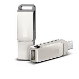 Wholesale Case Epacket - 2015 100% full real capacity metal case swivel 32GB 64GB OTG USB Flash dirve Memory Stick 64G USB 2.0 for Tablet PC epacket