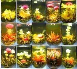 Wholesale Blooming Tea Art - Wholesale 16 styles kinds Blooming tea Technology Scented tea Art Jasmine flower Tea Art viewing Blossom Flower ProcessTea
