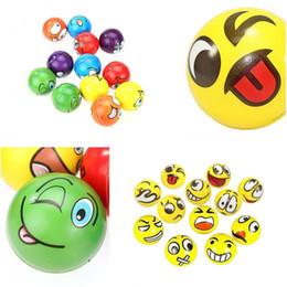 Canada 6.3cm emoji Sourire Stress Ball Nouveauté Squeeze Ball Jouet Main Poignet Exercice Squeeze Jouets Sourire Visage Pour Enfants Adulte cheap latex toy adult Offre
