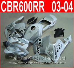 Repsol argento bianco online-Repsol White silver Carrozzeria per carenature Honda CBR600RR 2003 2006 Carene CBR 600 RR CBR 600RR 03 04 VFOV