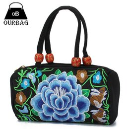 Wholesale Special Coins - Wholesale-2015 New Women Coin Bags Embroidered Handbag National Wind Change Purse Vintage Drum Bag Special Embroidery Female Bag Hot Sale