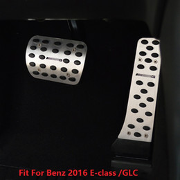 Wholesale Pedal Steel - 2pcs Stainless Steel AT Brake pedal + Accelerator Pedal For Mercedes Benz W213 2016 E-class AMG Style