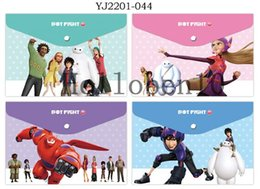 Wholesale Gift Bags Paper Big - New arrival Free Shipping 12 pcs Big Hero 6 Cartoon Filing Products Translucent Plastic Paper Bags For Best Gifts