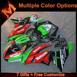 Wholesale Kawasaki Ninja Zx6r Gray - 23colors+8Gifts RED GREEN ZX6R 2009 2010 2011 2012 motorcycle cowl For Kawasaki Ninja zx6r ZX 6R 09 10 11 12 ABS Plastic Fairing
