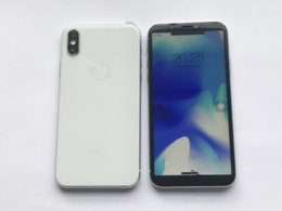 Wholesale 2gb Cards - 2017 New Goophone X I8 Plus MTK6592 Octa Core IX 2GB RAM 64GB ROM Fingerprint 13MP Glass cover 3G Unlocked i8 cell phone