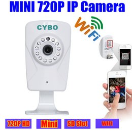 Wholesale Mini Ip Webcam - mini ip camera webcam wireless 720p hd WIFI baby monitor Webcam Night Vision sd card slot ONVIF Audio