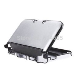 Wholesale Nintendo 3ds Case Cover - Silver Anti-shock Hard Aluminum Metal Box Cover Case Shell for Nintendo 3DS XL  3DS LL shell charm
